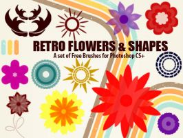 Retro Flowers and Shapes by fiftyfivepixels
