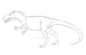 Allosaurus WIP 2 by xTrippingOnYoux