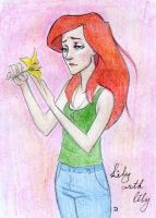 Lily with lily by Dinoralp