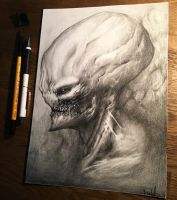 Alien drawing.  by anythingbuthumans