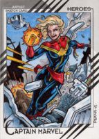 Captain Marvel - 2015 Marvel Fleer Retro by tonyperna