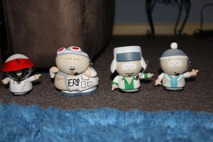 south park boy band set of 4 by the-fire-guy