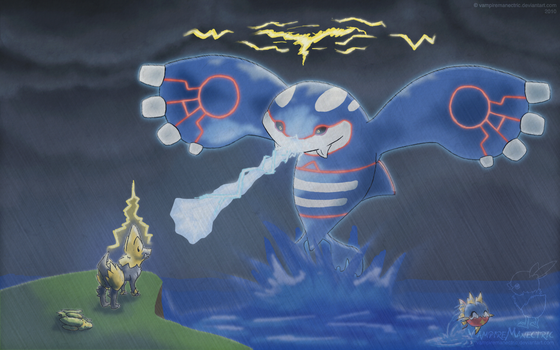 Willpower vs. Kyogre by virtualysis