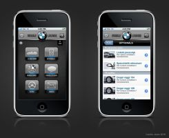 BMW iPhone app Italy layout by camilojones