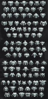 100 Skull Designs by Tremess