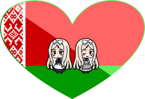 Light and Darkness (Belarus) Shimeji Heart by LadyAxis