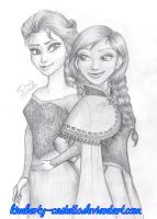 Disney: Frozen - Anna and Elsa by kimberly-castello