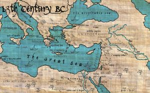 13th Century BC Mediterranean Map by TheForsakenSailor