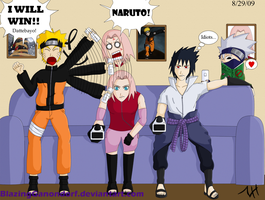 Naruto Team 7 Playing Wii by BlazingGanondorf