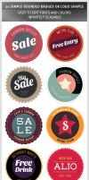 20 Simple Rounded Badges or Logo Shapes by hugoo13