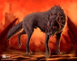 Hell hound by Azany