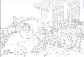 Kung Fu Panda storybook page by MarceloMatere