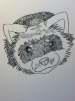 Finished Stippling Ferret by UbiOokami23