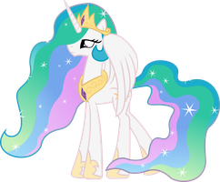 Princess Celestia practice vector by Archonitianicsmasher
