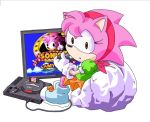 Amy the retro gamer. by SMSSkullLeader