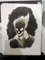 Ghost rider Sketch FanExpo by AndrewKwan