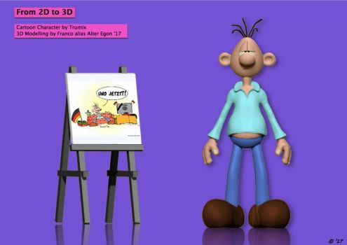 From 2D to 3D - Francos Freax Trumix by FrancosFreax