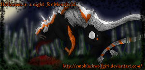 Holloween is for the monsters by EmoBlackwolfgirl