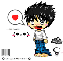 ....Chibi L Lawliet (caz it's L again -___-) by YeLLowSuGArsTAR
