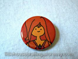 Adventure Time Flame Princess 1.25 inch button by LittleHouseCrafting