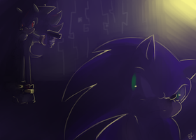 Shadow and Sonic by Blue-Chica