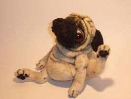 'Bits' scratching pug 2 by mellisea