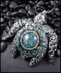 Earth Mother Turtle Totem Pendant by andromeda
