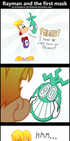 Comic: Rayman and the first mask by ZuTheSkunk
