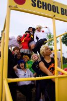 Persona 4, Bus Shot. by janinae
