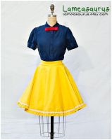 Snow White Princess Retro Style Skirt by Lameasaurus-etsy
