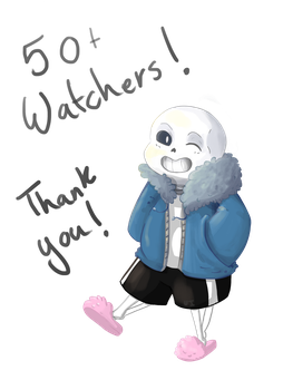 Sans Wants To Thank You 50+ Watchers (raffle info) by Ueichi