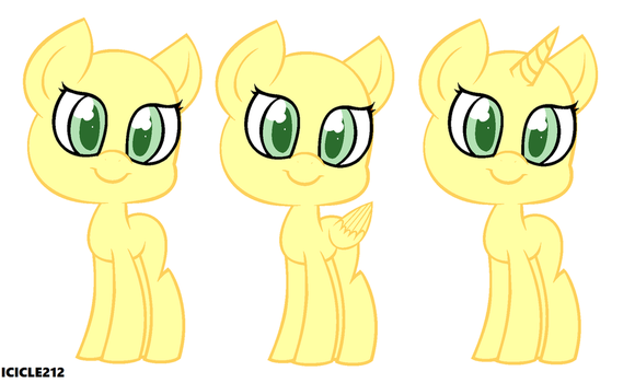 Pony base #5 by Icicle212