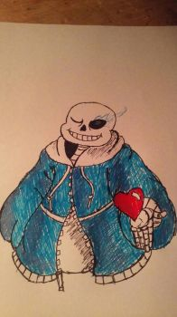 Valentine's Sans by 13thprotector