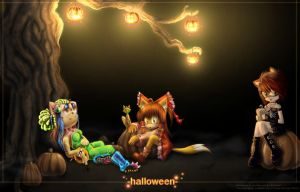 Happy Halloween.Collab by Karkott