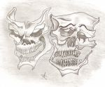 Ashliegh-drawing-griningskulls by redsexy