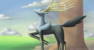 a Xerneas appeard by I-drew-a-pokemon