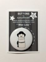 Wee Leia 1 inch Pinback button by AudreyMillerArt