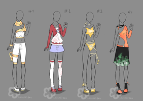 Some Outfit Adopts #7 - sold by Nahemii-san