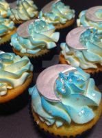 Starry Night Cupcakes by Corpse-Queen