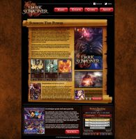 Mobile Game Webpage Design by ExoroDesigns