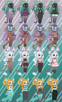 Obscura Outfit Refs by Kingdomkey