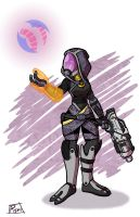 Tali'Zorah and Chiktikka by Toug-2000