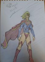 Supergirl sketch 31.1.13-colored by itamar050