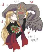 Eva and Sparda by Valdathereaper