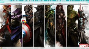 Avengers Google Chrome theme by kibumheart