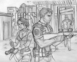 Resident Evil 5- lineart by Holly-the-Laing