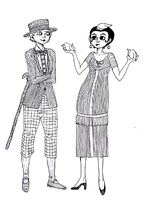 Lesbians in 1920s by SandyQuinn
