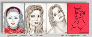 TanyDi from 1992 to 2010 by AzureRayArt