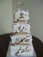 Blossom wedding cake by see-through-silence
