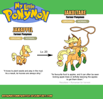 My Little Ponymon - Applejack by BrownieComicWriter